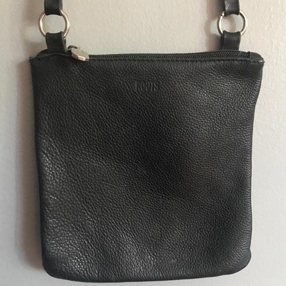 Roots Handbags - ROOTS black leather crossbody